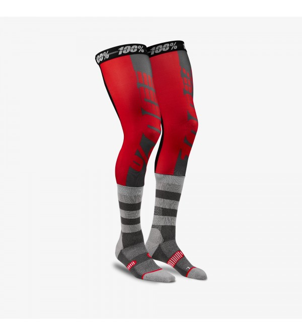 100% Socks REV Knee Brace Red L/XL