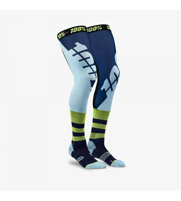 100% Socks REV Knee Brace Navy L/XL