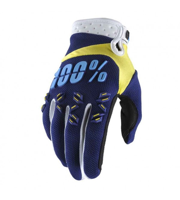 100% Gloves AIRMATIC Navy-Yellow