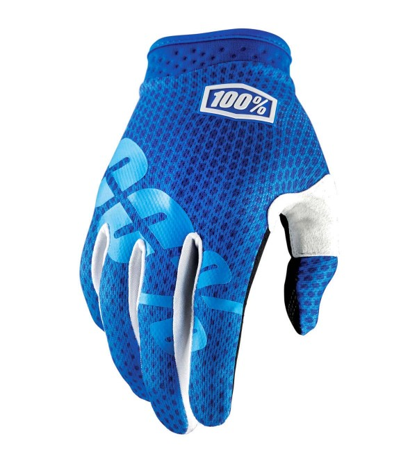 100% Gloves iTRACK Blue
