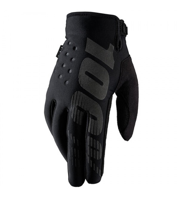 100% Gloves BRISKER Cold Weather Black