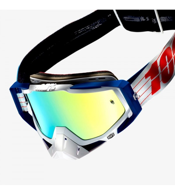 100% Goggle RACECRAFT Bibal/White