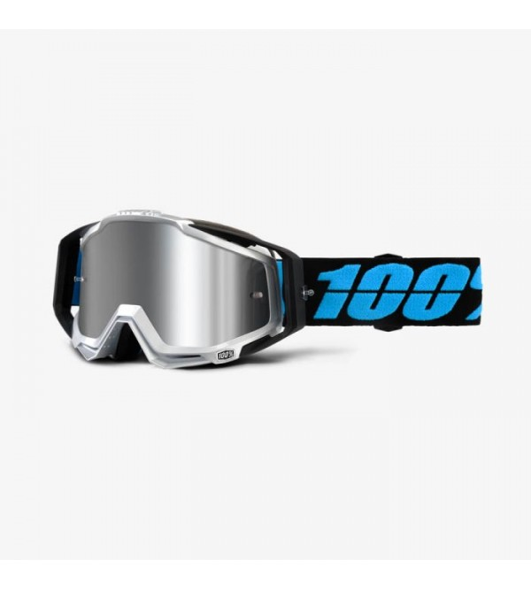 100% Goggles RACECRAFT PLUS Daffe-Lens Mirror Silv...