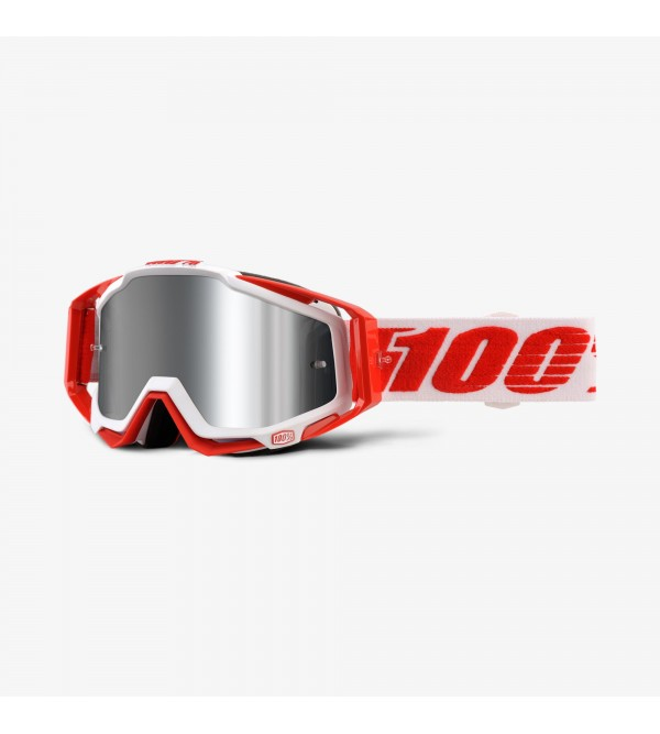 100% Goggles RACECRAFT PLUS Bilal-Lens Mirror Silv...