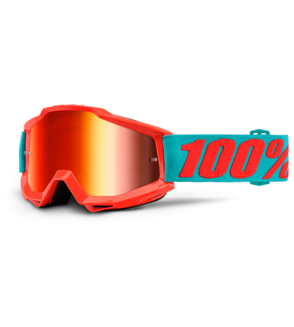 100% Goggles ACCURI Passion Orange-Lens Mirror Red