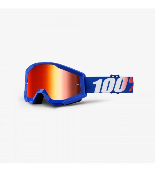 100% Goggles STRATA Nation-Lens Mirror Red
