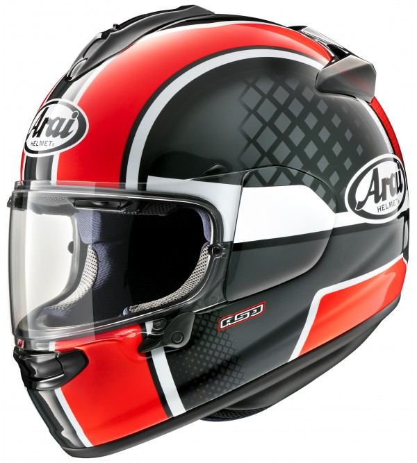 ARAI helmet Chaser-X Take-Off Red