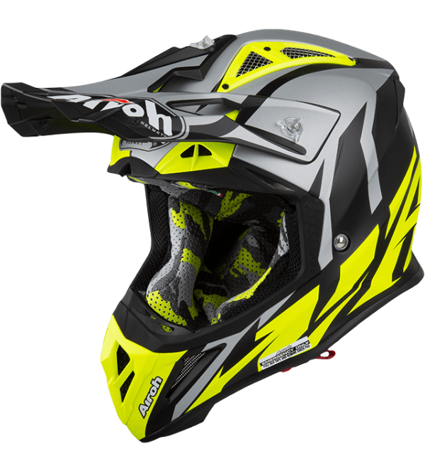 Airoh Helmet Aviator 2.3 AMSS Great Yellow gloss C...