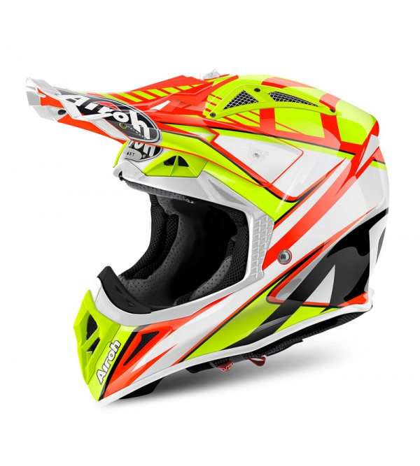 Airoh Helmet Aviator 2.2 Double orange gloss L