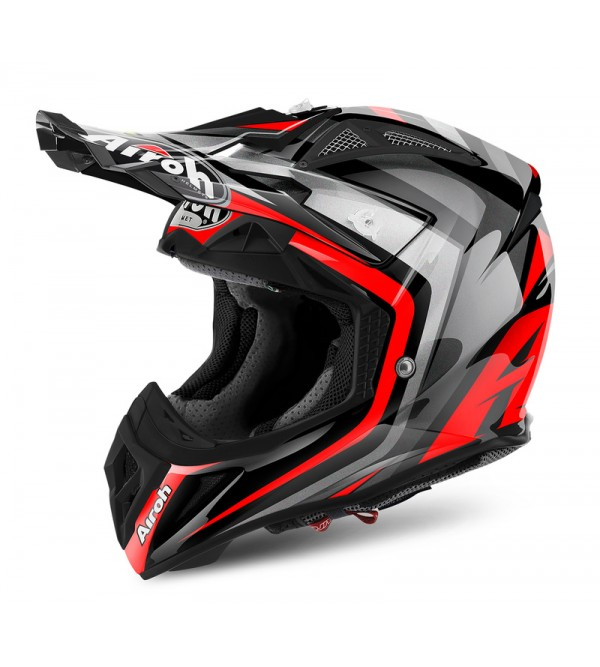 Airoh Helmet Aviator 2.2 Warning Red L