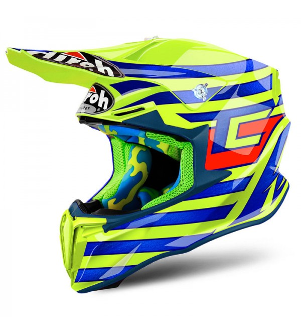 Airoh Helmet Twist Cairoli Qatar Yellow Gloss