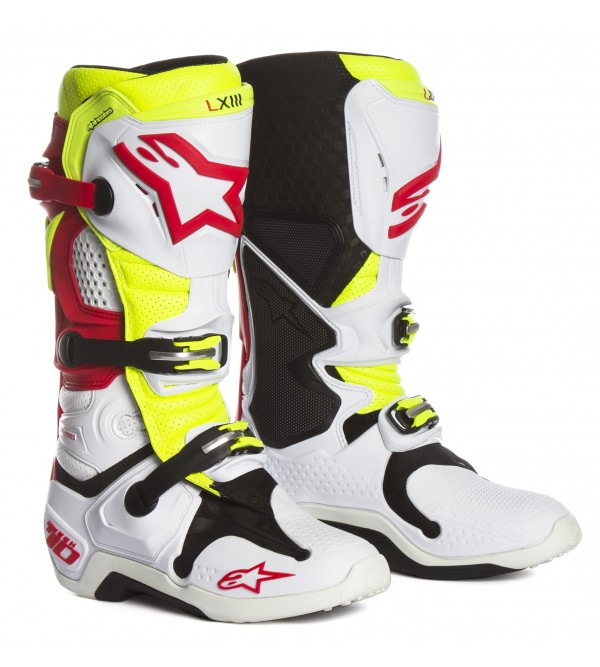 Alpinestars Boots Tech 10 VENTED White-Red-Yellow