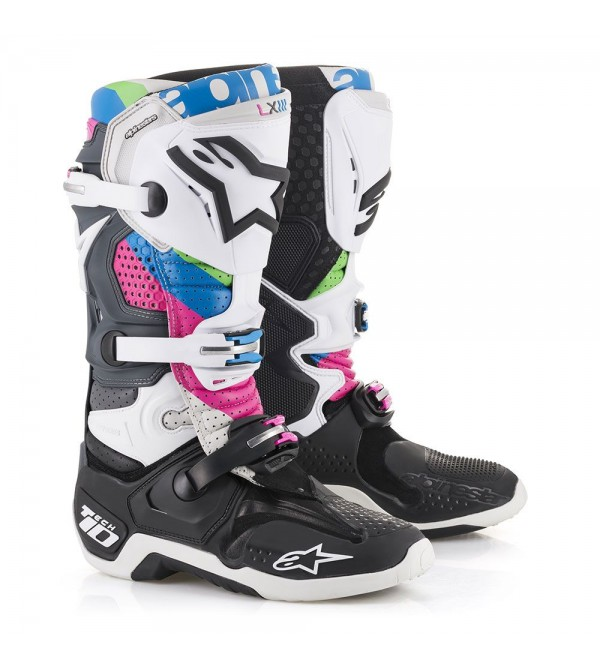 Alpinestars Zābaki Tech 10 Black/Grey/Fuchsia/Aqu...