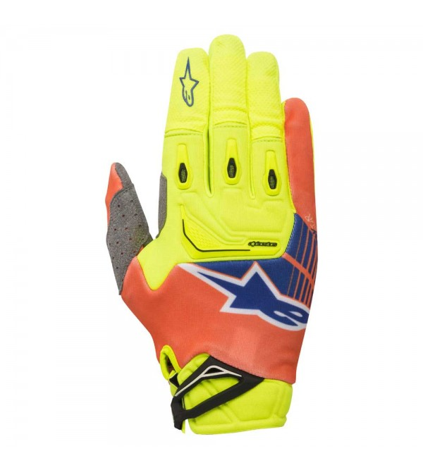 Alpinestars Gloves Techstar Yellow-Orange-Blue