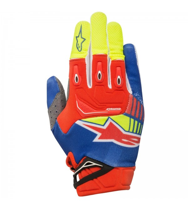 Alpinestars Gloves Techstar Blue-Red-Yellow