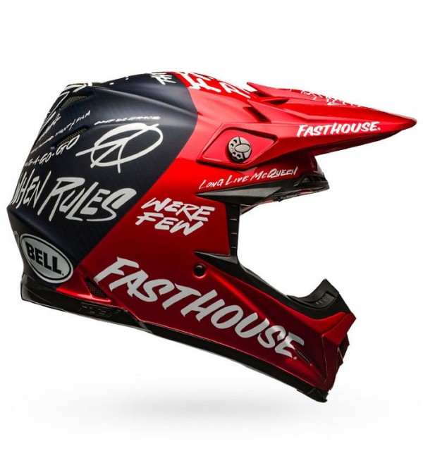 BELL Helmet MOTO-9 FLEX FASTHOUSE DID RED-NAVY