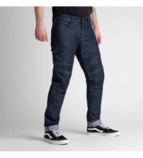 BROGER Mens Jeans Ohio Raw Navy