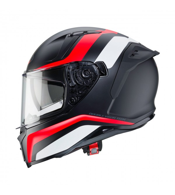 CABERG Helmet AVALON BLAST Matt Black/White/Red Fl...