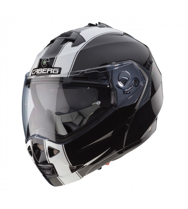 CABERG Helmet DUKE II LEGEND BLACK WHITE
