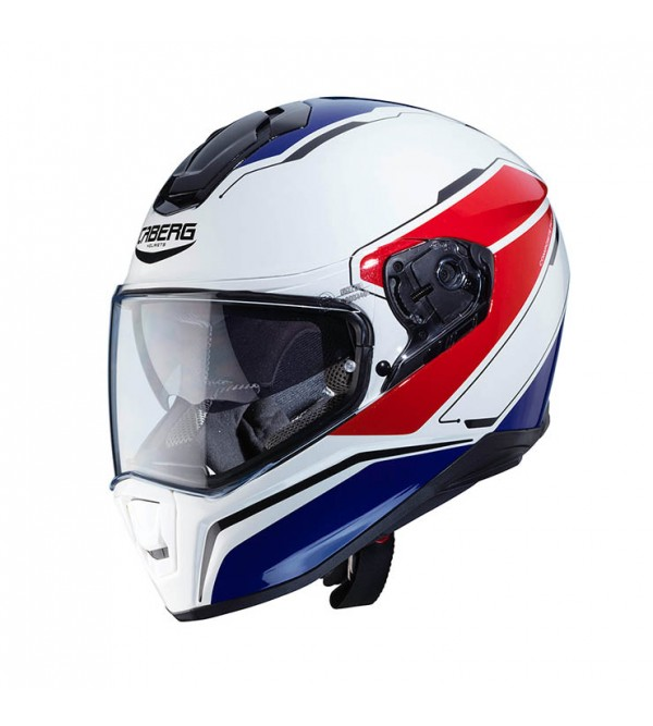 CABERG Helmet DRIFT TOUR White Blue Red