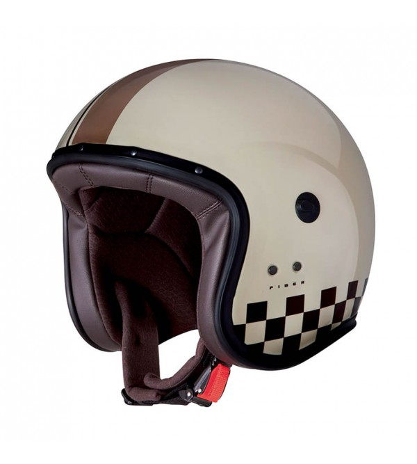CABERG Helmet JET FREE RIDE INDY Cream Brown