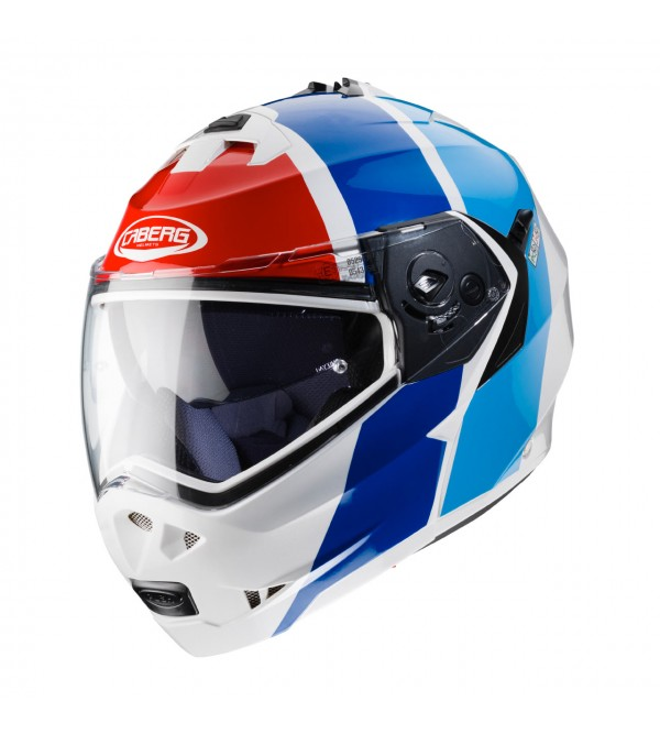 CABERG Helmet DUKE II Impact white metal red blue ...