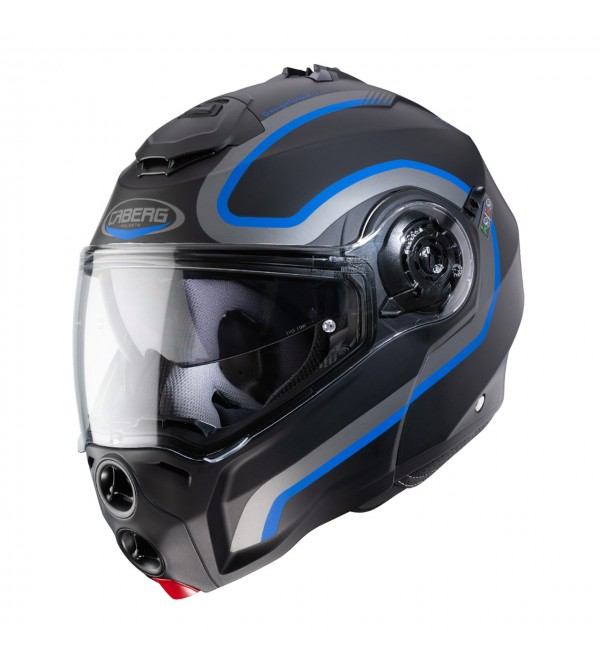 CABERG Helmet DROID PURE MAT Black Antracite Blue