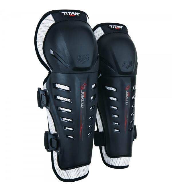 FOX knee guards TITAN RACE BLACK OS