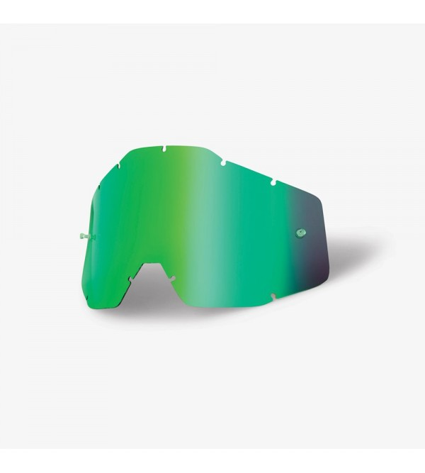 100% RACECRAFT/ACCURI/STRATA Mirrored Green Lens