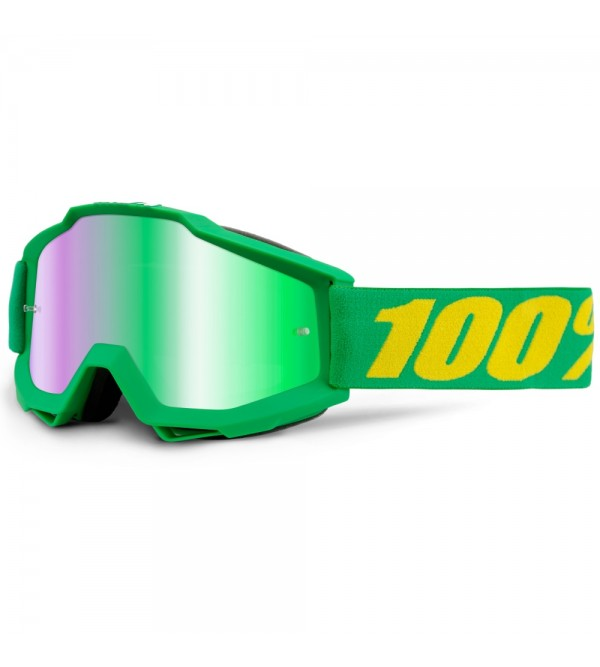 100% Goggles ACCURI Forrest Mirrored Green Lens