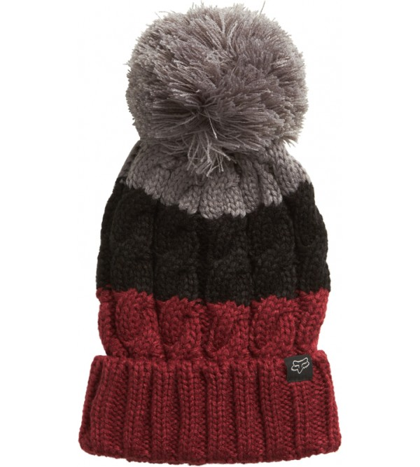 FOX Lady Beanie VALENCE DRK RED OS
