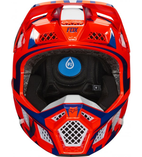 FOX helmet V3 Idol Ece Orange/Blue
