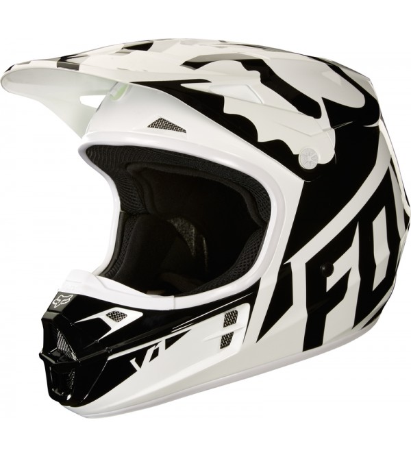 FOX aizsargķivere V-1 RACEECE WHITE/BLACK/GREEN