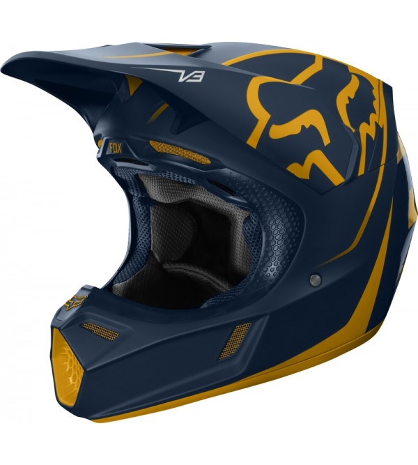 FOX helmet V3 Kila ECE Navy/Yellow