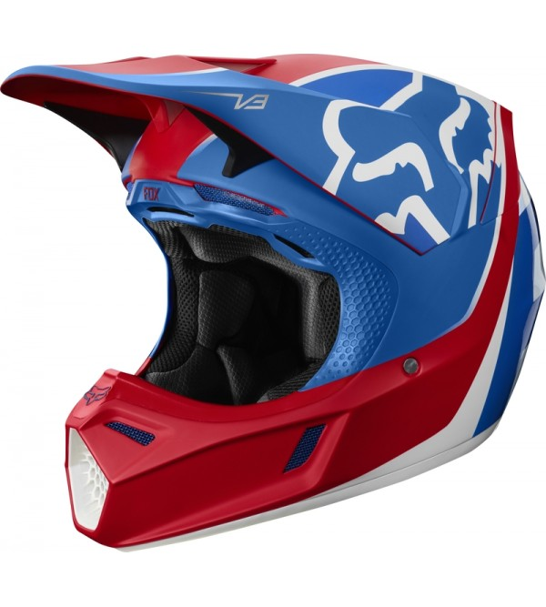 FOX helmet V3 Kila ECE Blue/Red