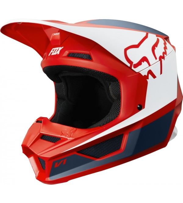 FOX helmet V-1 PRZM Navy/Red
