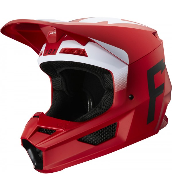 FOX helmet V-1 Werd Ece Flame Red