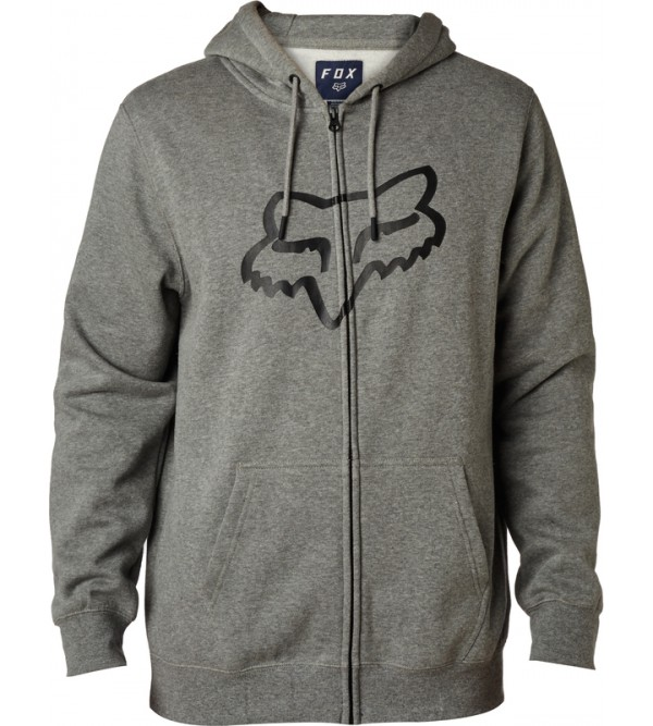 FOX Fleece LEGACY FOXHEAD ZIP HTR GRAPH