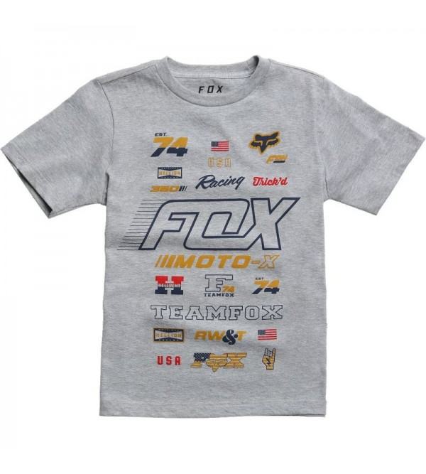 FOX Junior Tees EDIFY SS LIGHT HEATHER GREY