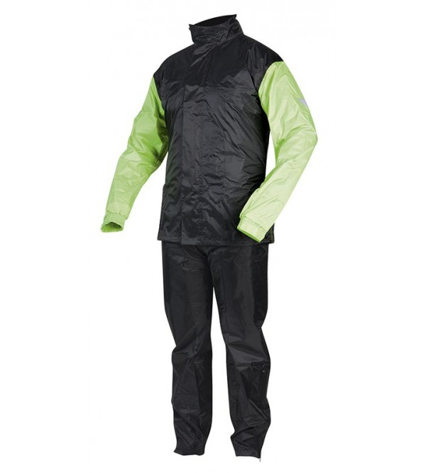 Rebelhorn Two-Piece Waterproof Suit Rain Black/Flu...
