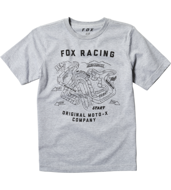 Youth Fast Track Ss Tee Light Heather Grey