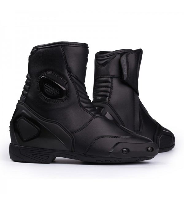 Rebelhorn Trip St Short Black Motorcycle Boots