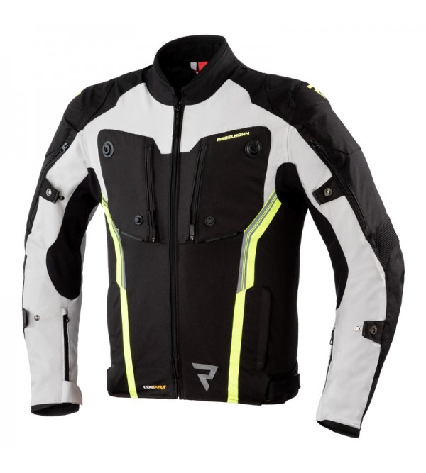 Rebelhorn Borg Black/Grey/Flo Yellow Textile Motor...