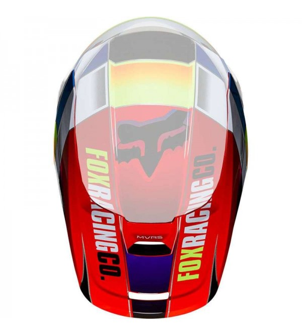 2019 V1 HELMET VISOR - YORR BLUE/RED