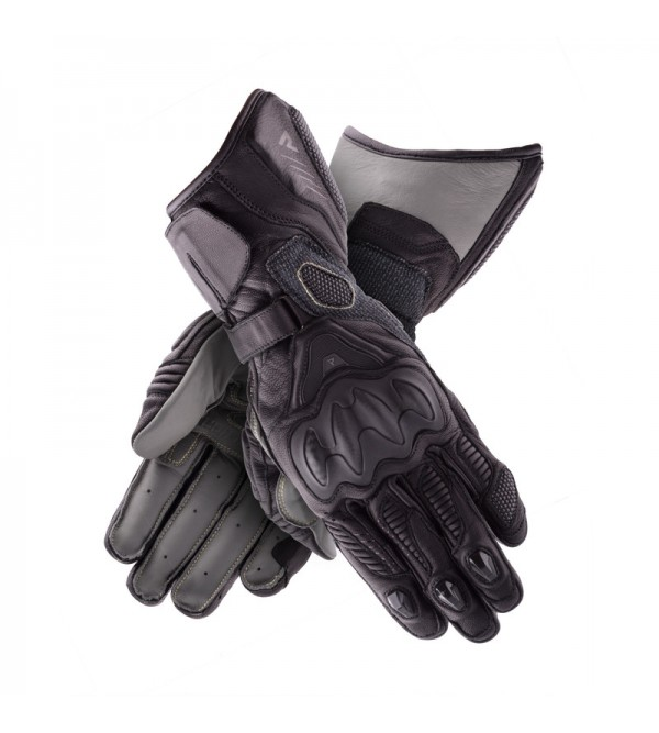 Rebelhorn Rebel Lady Black Leather Motorcycle Gloves