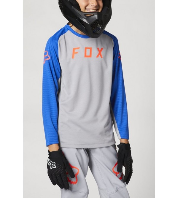 Youth Defend Ls Jersey Steel Grey