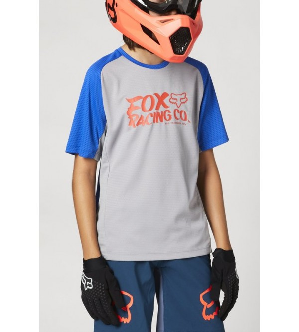 Youth Defend Ss Jersey Steel Grey