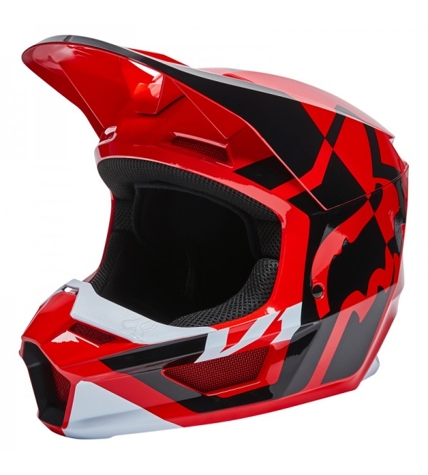 Youth V1 Lux Helmet Ece Fluo Red