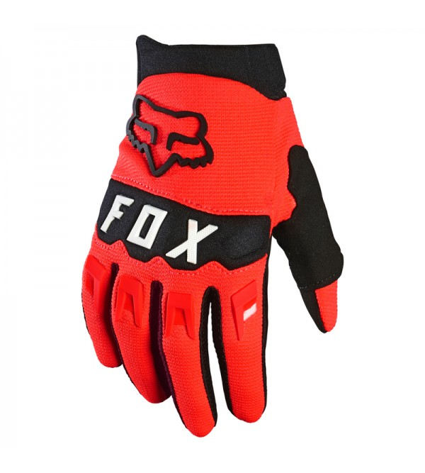 Youth Dirtpaw Gloves Fluo Red