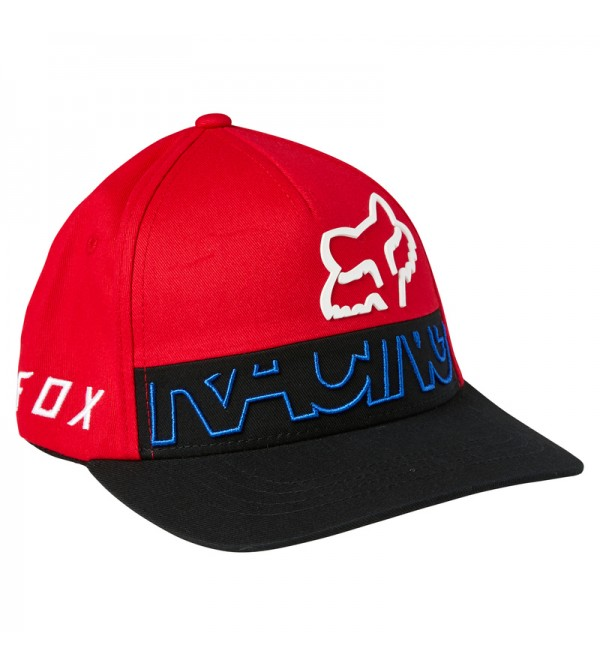 Youth Skew Flexfit Hat Flame Red